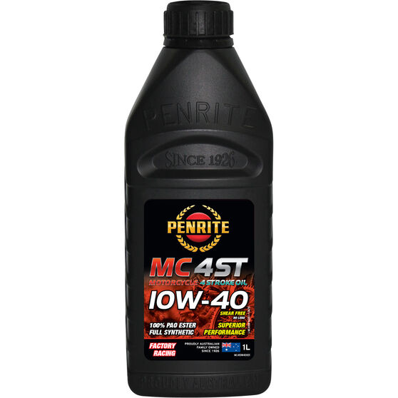 Penrite MC-4 PAO Ester Motorcycle Oil - 10W-40, 1 Litre, , scanz_hi-res