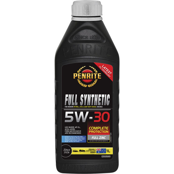 Penrite Full Synthetic Engine Oil -  5W-30 1 Litre, , scanz_hi-res