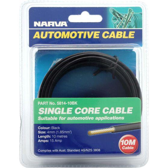 Narva Automotive Cable - Single Core, 10 Metres, 4mm, 15 AMP, Black, , scanz_hi-res