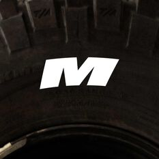 Tire Stickers - Letter M, , scanz_hi-res
