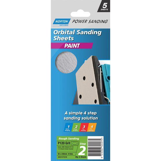 Norton 1 / 3 Sander Sheet - 120 Grit, , scanz_hi-res