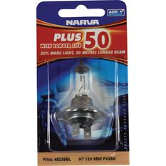 Narva Headlight Globe - Plus 50, H7,  12V, 55W, , scanz_hi-res