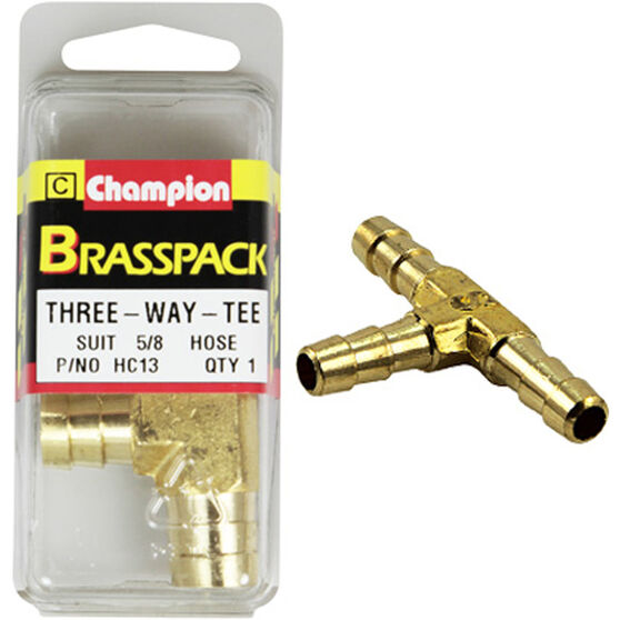 Champion T Pieces - 5 / 8inch, Brass, , scanz_hi-res