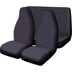 SCA Escort Seat Cover Pack - Grey Built-In Headrests Front Pair and Rear Airbag Compatible, , scanz_hi-res