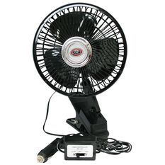 SCA Oscillating Car Fan - 12V, Black, , scanz_hi-res