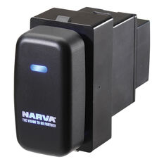 Narva OE Style Switch - Suits Mitsubishi Tridon ML-MN series, Challenger 09-15, Pajero 02-12, Blank Push On/Off, Blue LED, 63324BL, , scanz_hi-res