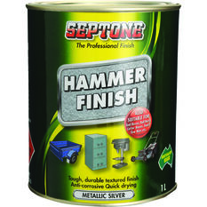 Paint - Hammer Finish, Metallic Silver, 1 Litre, , scanz_hi-res