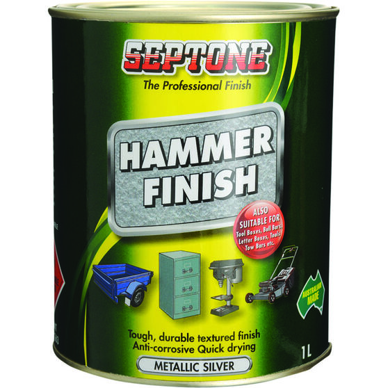 Septone Paint Hammer Finish - Metallic Silver, 1 Litre, , scanz_hi-res