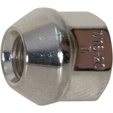 Wheel Nuts, Tapered Open End, Chrome - 7/16, , scanz_hi-res