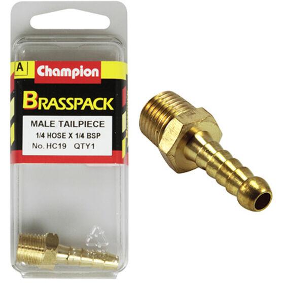 Champion Male Hose Barb - 1 / 4inch X 1 / 4inch, Brass, , scanz_hi-res