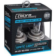 Calibre Headlight Globes - H4, 12V, 60/55W, White Light, , scanz_hi-res
