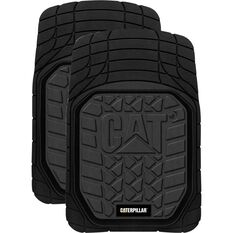 Caterpillar Car Floor Mats - Rubber, Black, Front Pair, , scanz_hi-res