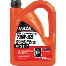 Nulon Gear Oil 75W-90 Semi Synthetic 2.5 Litre, , scanz_hi-res