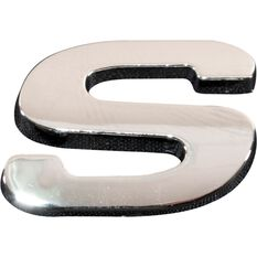 SCA 3D Chrome Badge Letter S, , scanz_hi-res
