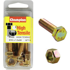 Champion High Tensile Bolts and Nuts - M10 X 50, , scanz_hi-res