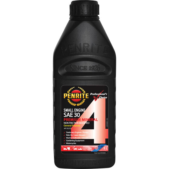 Penrite Small Engine 4 Stroke Engine Oil SAE 30 1 Litre, , scanz_hi-res