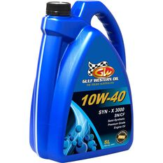 Gulf Western SYN-X 3000 Engine Oil 10W-40 5 Litre, , scanz_hi-res