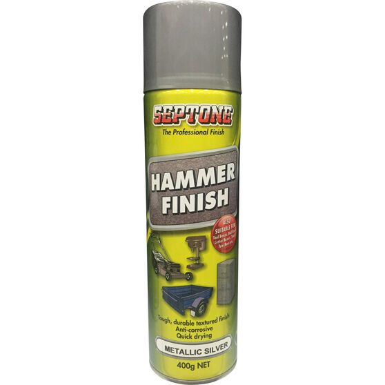 Septone Aerosol Paint Hammer Finish - Metallic Silver, 400g, , scanz_hi-res