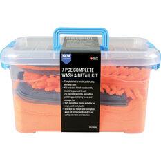 SCA Complete Microfibre Wash & Detail Kit - 7 Piece, , scanz_hi-res