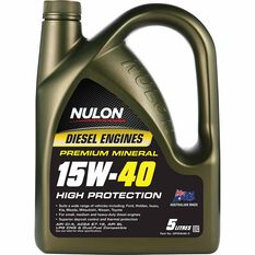 Nulon Premium Mineral High Protection Diesel Engine Oil 15W-40 5 Litre, , scanz_hi-res
