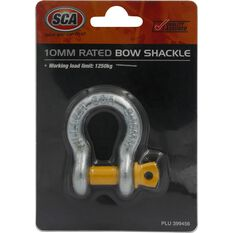 SCA Bow Shackle - Rated to 1250kg, Galvanised, 10mm, , scanz_hi-res
