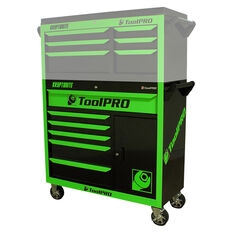 ToolPro Neon Tool Cabinet, 6 Drawer, Roller Cabinet - Kryptonite, 42 inch, , scanz_hi-res
