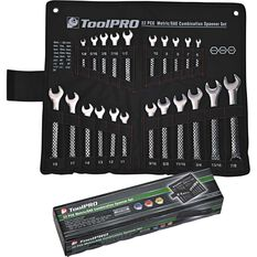 ToolPRO Spanner Set Combination Metric/SAE 22 Piece, , scanz_hi-res