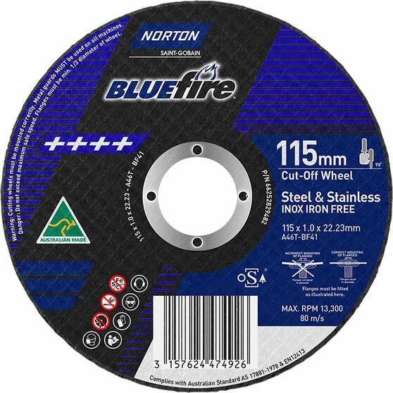 Norton Metal Cut off Disc 115mm x 1.0mm x 22mm, , scanz_hi-res