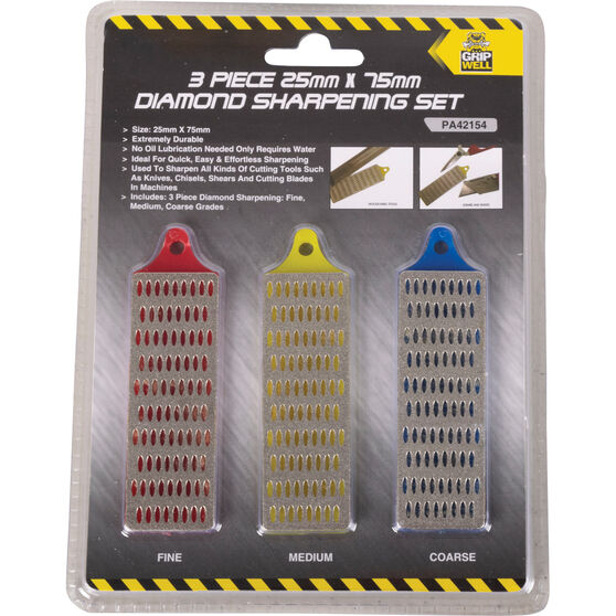 Gripwell Diamond Sharpening Set - 25 X 75mm, 3 Pieces, , scanz_hi-res