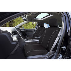 SCA Canvas Seat Covers - Black/Grey, Adjustable Headrests, Size 30, Front Pair, Airbag Compatible, , scanz_hi-res