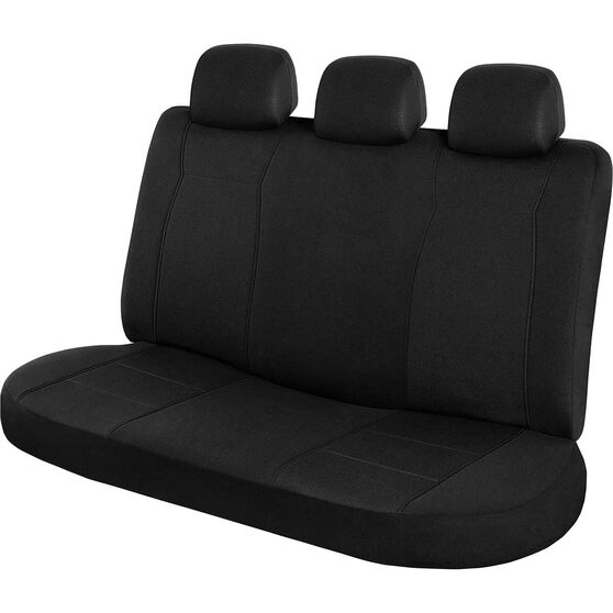 SCA Jacquard Seat Covers - Black, Adjustable Headrests, Rear Seat, , scanz_hi-res