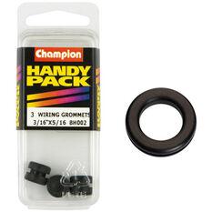 Champion Wiring Grommet - 3 / 16inch X 5 / 16inch, BH002, Handy Pack, , scanz_hi-res