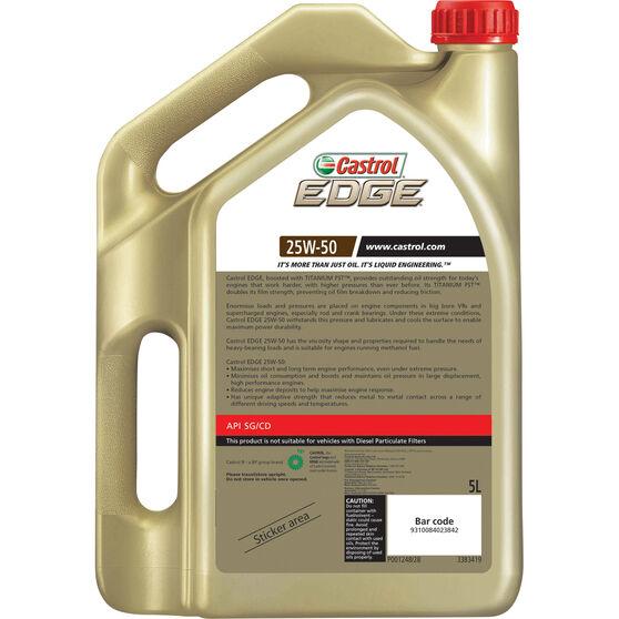 Castrol EDGE Engine Oil 25W-50 5 Litre, , scanz_hi-res