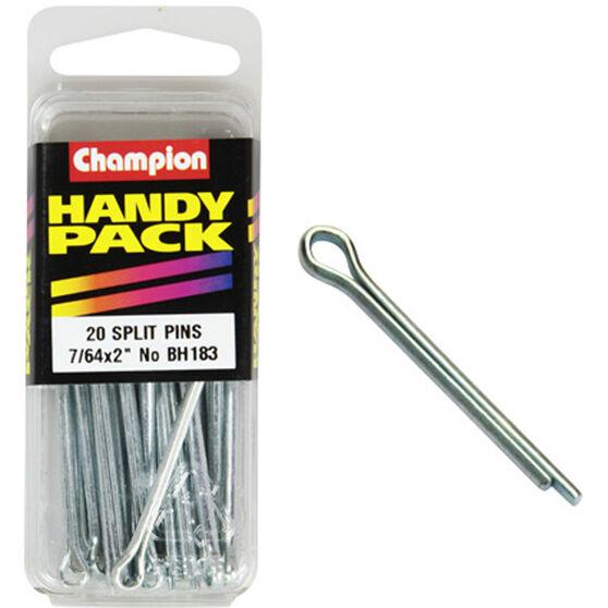 Champion Split Pins - 7 / 64inch X 2inch, BH183, Handy Pack, , scanz_hi-res
