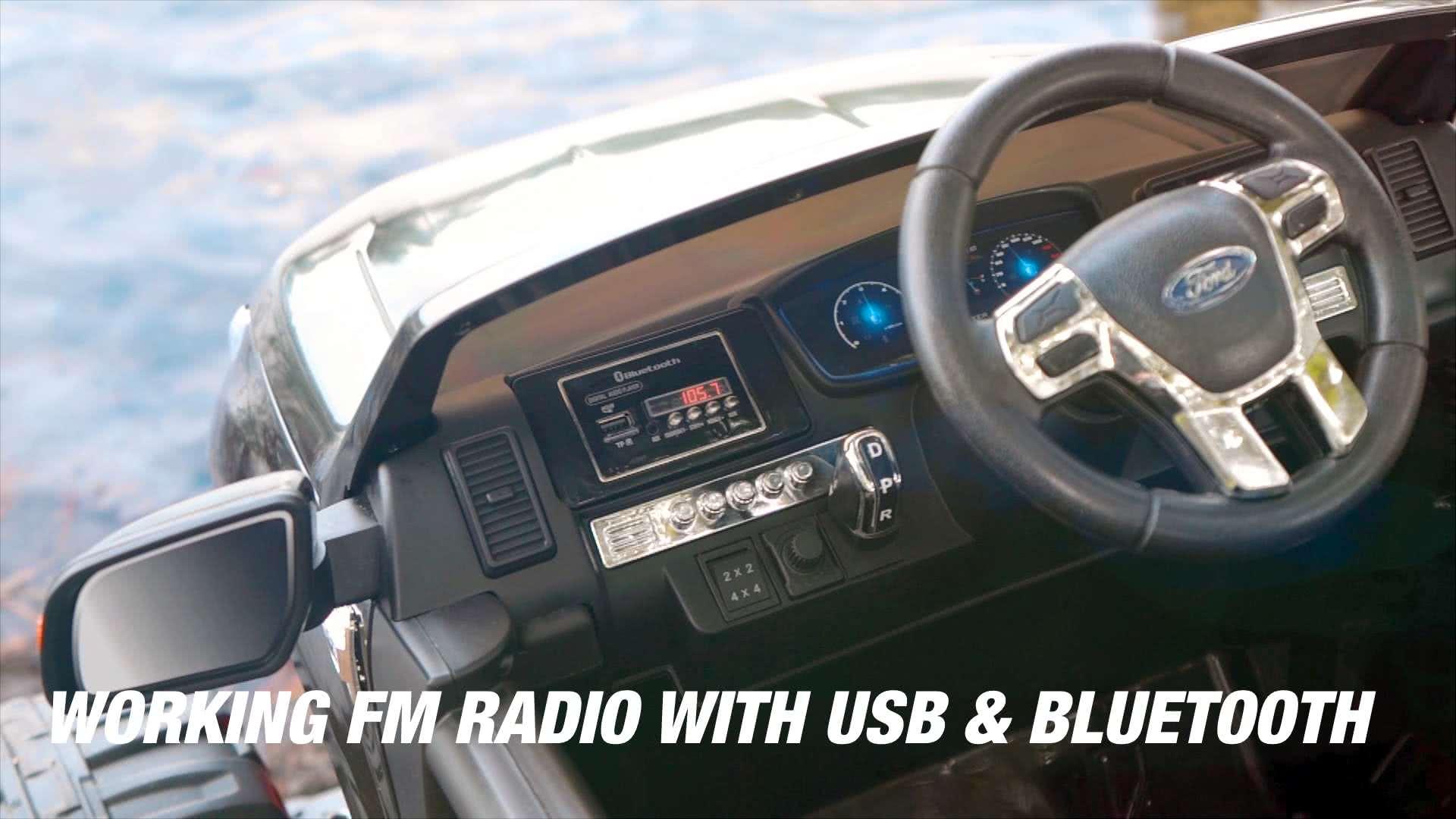 Working FM Radio w/ USB & Bluetooth