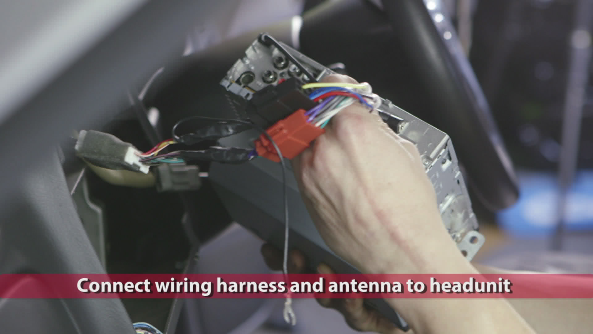 Installing A Headunit Subaru Subwoofer Wiring Harness Connect You Prepared Earlier And Plug In The Antenna