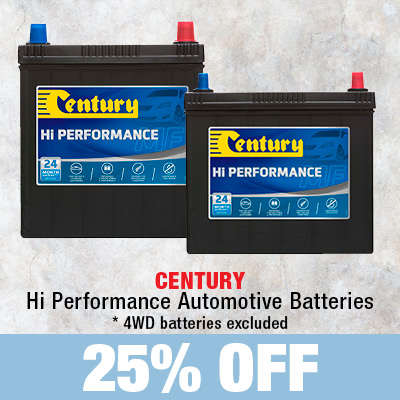 25% off Hi Performance Automotive Batteries